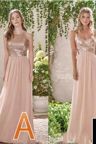 2018 Cheap Chiffon A Line Bridesmaid Dresses Halter Neck Long Beach Wedding Gust Dress Formal Maid of Honor Gowns Custom Made