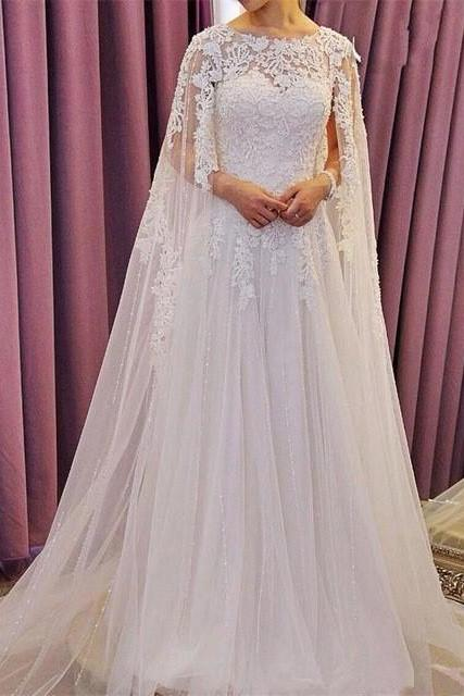 High Quality Wedding Dresses,Luxury Wedding Dress,Lace Wedding Dress,A-Line Wedding Dress,Beaded Wedding Dress,White Wedding Dress,Top Quality Wedding Dress,Long Wedding Dress,custom wedding dresses