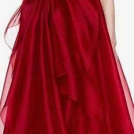 2018 New Design Fashion Red A-Line Prom Dresses One Shoulder Ruffles Sleeveless Evening Dresses Organza Fabric Party Dresses Custom Made Formal Dresses High Quality